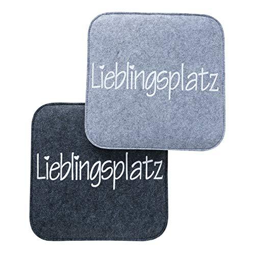 Boltze Sitzkissen Lieblingsplatz farbmix 35 x 35 cm, Dekoration, Geschenk