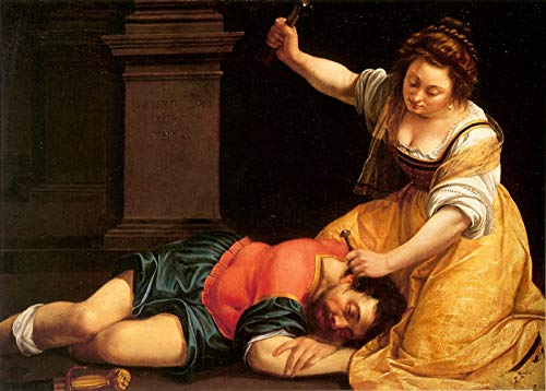 "Artemisia Gentileschi Jael and Sisera 1620 Szepmuveszeti Muzeum Budapest 30"" x 21"" Fine Art Giclee Canvas Print (Unframed) Reproduction"