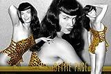 Bettie Page - Leopard Poster Drucken (60,96 x 91,44 cm)