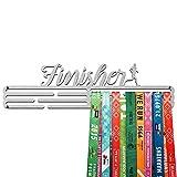 United Medals Finisher Medalla Percha | Acero Cepillado (43cm / 48 Medallas) Soporte para Medallas Deportivas