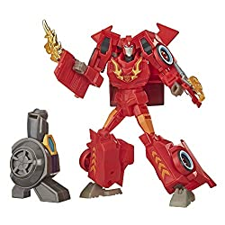 5-INCH HOT ROD FIGURE: Hot Rod figure is an impressive 5 inches tall. 2-IN-1 CONVERTING TOY: Easy Transformers conversion for kids 6 and up. Convert Hot Rod toy from robot to race car mode in 13 steps. Makes a great gift for kids INCLUDES BUILD-A-FIG...
