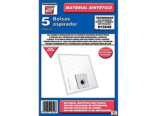 Tecnhogar 915649 Bolsa aspirador, Blanco