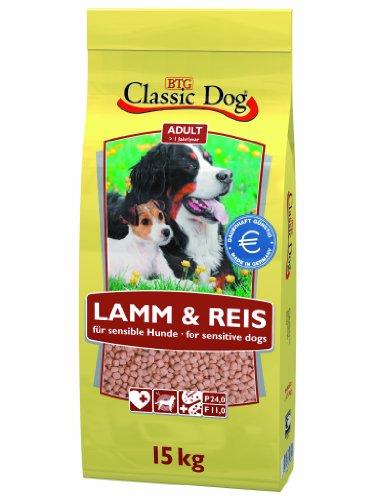 Classic Dog 40027 Lamm und Reis 15 kg - Hundefutter