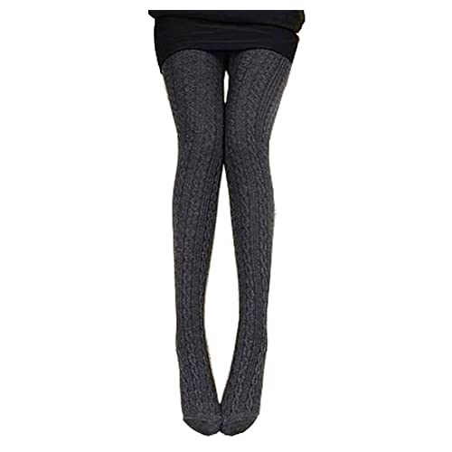 236264f9e5f0ad Westeng Women's Ladies Winter Stretchy Leggings Pants Plain Knitted Cotton  Rich Sweater Tights
