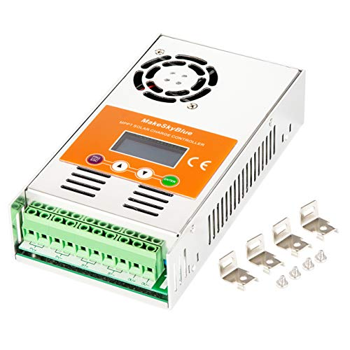 MakeSkyBlue MPPT Charge Controller 60 Amp Auto 12V/24V/36V/48V LCD Display Max 160V 2800W Solar Panel Input V118 Version