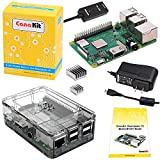 Includes Raspberry Pi 3 B+ (B plus) with 1.4 GHz 64-bit Quad-Core Processor and 1 GB RAM CanaKit 2.5A USB Power Supply with Micro USB Cable and Noise Filter - Specially designed for the Raspberry Pi 3 B+ (UL Listed) Dual band 2.4GHz and 5GHz IEEE 802...