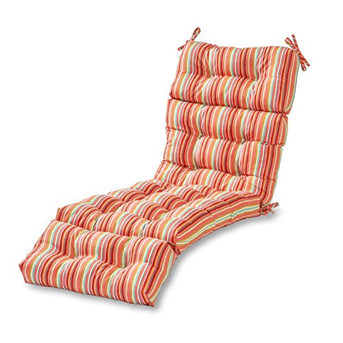Greendale Home Fashions 72-inch Outdoor Chaise Lounge Cushion, Watermelon