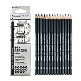 Drawing Pencils 14pcs/set 12B 10B 8B 7B 6B 5B 4B 3B 2B B HB 2H 4H 6H Graphite Sketching Pencils Professional Sketch...