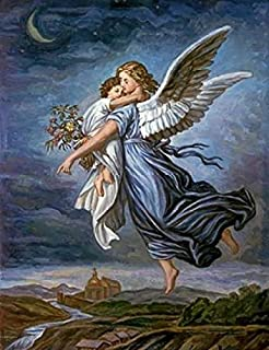 Posterazzi The Guardian Angel Poster Print by Wilhelm Von Kaulbach (11 x 14)