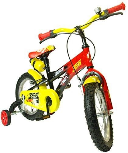 Bici Bicicletta per Bambino FAST 16' 5 ANNI+ GMT BabyKidBike-d Evita Cadute al tuo Bimbo-a con de-stabilizzatori (Smart Training Wheels). Rotelle per bicicletta bambino. Sistema di apprendimento a doppia regolazione Brevetto MONDIALE Distribuzione esclusiva.