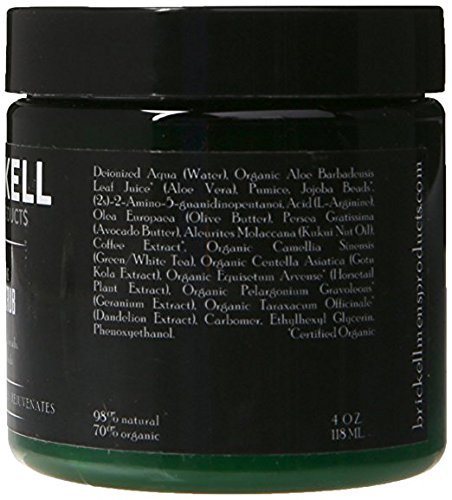Brickell Men's Products Gommage Visage Renouvelant, Exfoliant Visage Gommage Naturel et Bio (4...