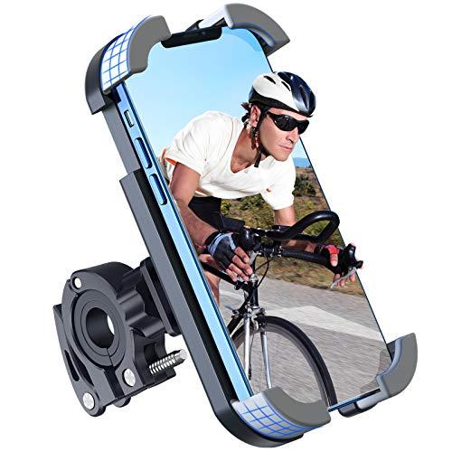 Fahrrad Handyhalterung, Anti-Shake Handyhalterung für Fahrrad Motorrad Mit 360° Drehen für 4.7-6.8 Zoll Smartphone, Werkzeuglose Installation Fahrrad GPS Geräte, Geeignet für Rennrad Mountainbike