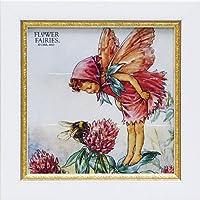 ユーパワー アートフレーム/植物・花 レッドクローバーフェアリー W18xH18cm