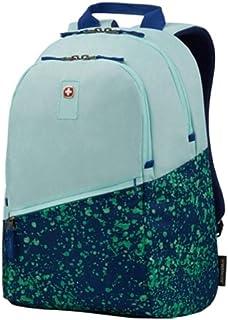 Wenger Criso Backpack with 16 Laptop Pocket, Pale Aqua/Green Paint Splatter