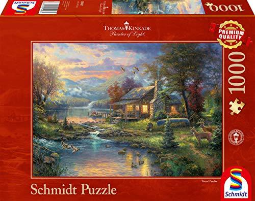 Schmidt Spiele Puzzle 59467 - Thomas Kinkade, Im Naturparadies, 1.000 Teile Puzzle