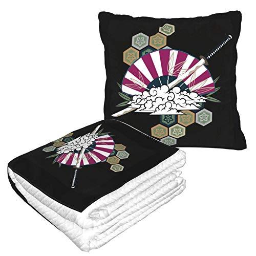 Xinkaize Japan Kendo Colección de Franela Suave y acogedora, Cama o el sofá, Mantas de Tiro y Almohada