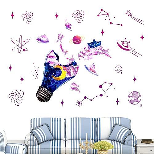 Pegatina De Pared De Cielo Estrellado Cósmico Para Niños Sala De Estar Dormitorio Guardería Papel Tapiz Para Niños Mural Vinilo Pared Decorativa Para El Hogar