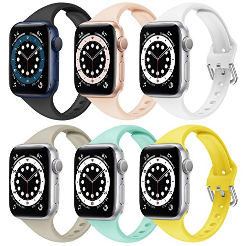 Supore Apple Watch Cinturino Compatibile per Apple Watch 45mm 44mm 41mm 40mm 38mm 42mm, Cinturini Sportiva in Silicone Morbido e Traspirante per Apple Watch SE / iWatch Series 7 6 5 4 3 2 1