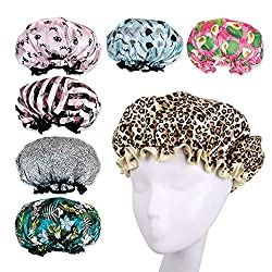 5a8ea085753 Mademoiselle Paisley is a recommended shower cap for protecting both short  and long hair while bathing and showering. It comprises a rubberized  comfort edge ...