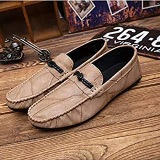 YKDY Lightweight and Comfortable Casual Peas Shoes (Color:Black Size:39)
