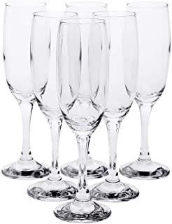 HomeStop Pasabache Imperial Champagne Glass (Set of 3) (Clear_Free Size)