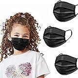 Kids Black Disposable Face Masks 100PCS Childrens Breathable Safety Mask