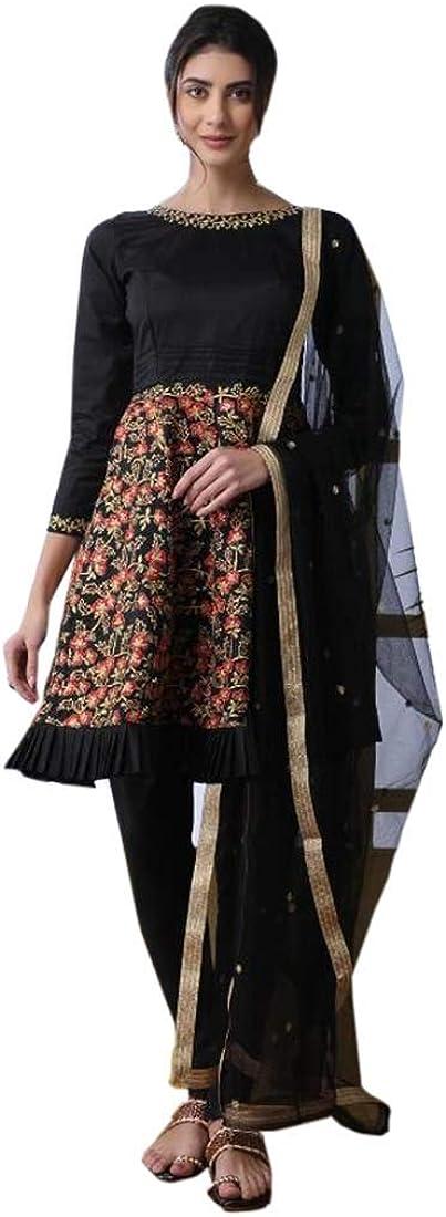 Rakhi Festival Eid Muslim Art Silk Embroidery Salwar Kameez Suit Ethnic Girls Indian Dress 9918B