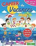 cahier de vacances 2020: GS vers CP | 5-6 ans | pour consolider les acquis de la grande section | avec diplôme | Pour une rentrée scolaire réussie en CP | cahier d'activité maternelle