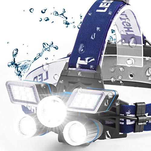 RechargeableHeadlamp,21LEDHeadlampwithRedStrobeLights,9ModesUSBRechargeableWaterproofHeadLampforOutdoorCampingCycling