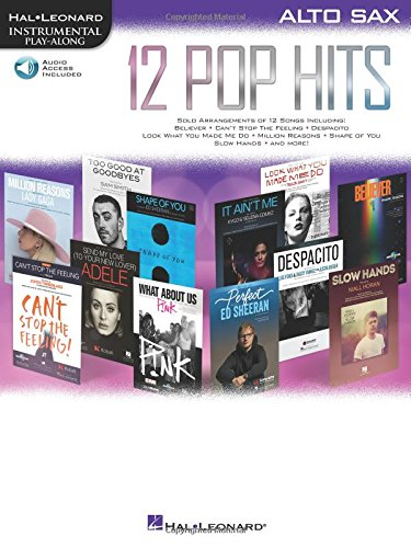 12 Pop Hits: Alto Sax (Hal Leonard Instrumental Play-along)