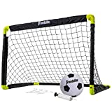 Franklin Sports Kids Mini Soccer Goal Set - Backyard/Indoor Mini Net and Ball Set with Pump - Portable Folding Youth Soccer Goal Set - 36' x 24' , Black