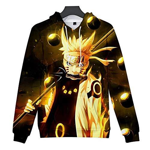 WYPAN Uzumaki Naruto Fashion Hoodie-31_Kids Code Herren Slim Fit Kapuzenpullover 3D Druck Hoodie Weihnachten