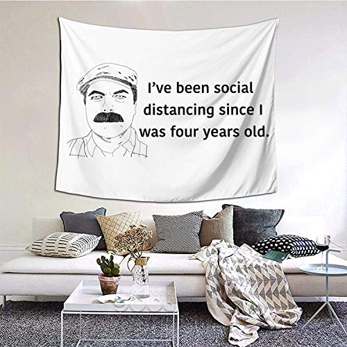 YeeATZ Ron Swanson Look A Clock Tapestry Wall Hanging Anime Tapestry Wall Art Wall Tapestry Home Decor for Living Room Bedroom Dorm 150 x 150 cm