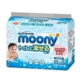 ムーニー おしりふき トイレに流せるやわらか素材 替 50枚 【6個(3個入×2パック)セット】