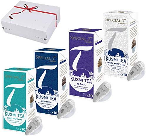 Nestlé Special.T - Kusmi Tea Geschenkset - 4 Sorten - 40 Kapseln