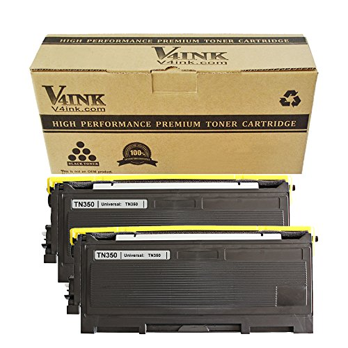 2 Pack V4INK� New Compatible with Brother TN350 Toner Cartridge-Black