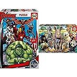 Educa Avengers, Puzzle Infantil De 200 Piezas, A Partir De 6 Años (15933) + Foto De Clase, Puzzle Infantil De 300 Piezas, A Partir De 8 Años (15908)