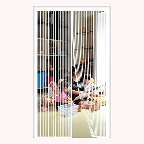 Magnetische Bildschirmtür 110x220cm Insekten fernhalten Lässt frische Luft in Insektenmückentür Bildschirm Magnetische weiche Tür Kühler Sommer für Tür Balkontür Wohnzimmer Terrassentür, gra