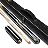 HIOD 57 Inch 19 Oz Pool Cue with 10mm Cue Tips English Handmade Snooker Cue Included Elegant Boxes, Extension Handles,