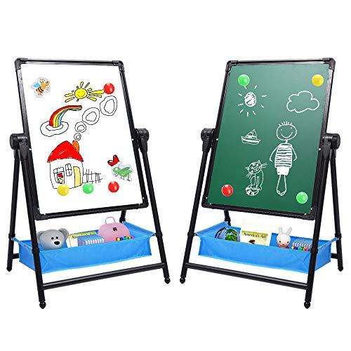 Kids Art Easel Double Sided Whiteboard & Chalkboard 26inch-43inch...