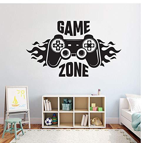 Muursticker spel muursticker controller Ps4 videospel decoratieve sticker vinyl kunst muurschildering voor kinderkamer 71X42 cm Zkpyy