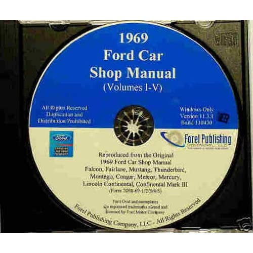 1969 ford factory repair shop & service manual cd includes custom 500,  galaxie 500,