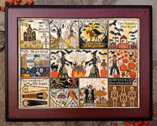 halloween at hawk run hollow cross stitch
