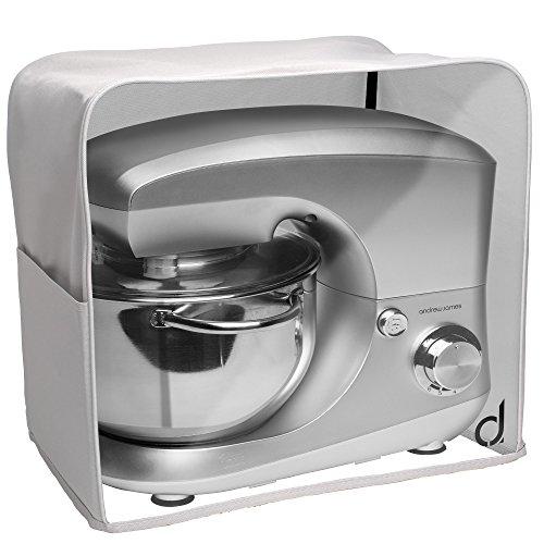 Andrew James Schutzhülle mit Durchsichtigen Sichtfenster für Standmixer und Küchenmaschine | 41,5cm x 38,5cm x 28cm | Abwischbares Material mit PVC Innenauskleidung | Grau