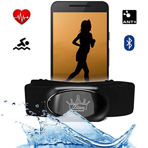 bestbeans© Heartbeat 2021 Swim Triathlon Bluetooth Low Energy & ANT+ Herzfrequenzmesser für RUNTASTIC Adidas Wahoo Nike+ Sensor für Garmin Polar Fitnessstudio Schwimmen