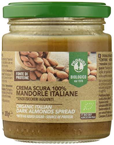 Probios Crema Scura 100% Mandorle Italiane Bio - [Confezione da 6 x 200 g]