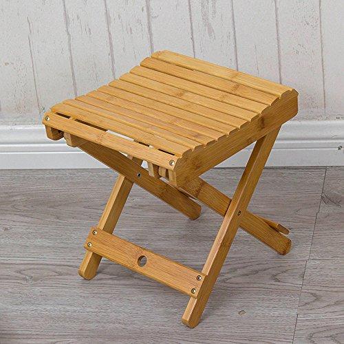 ZDD Tabouret pliant, Bambou, Mazars en bois massif pliant, Mini-banc simple simple, tabouret de pêche pour adultes