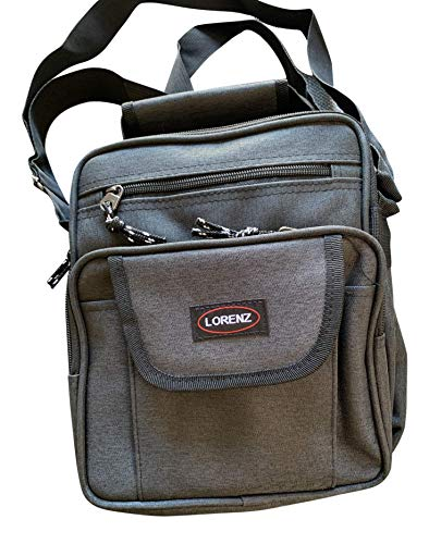 Lorenz Medium Sized Unisex Flight Gadget Travel Organiser Bag 26 x 21 x 11 cms - Black