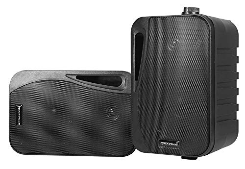 Review (2) Rockville HP4S-8 BK 4 Outdoor/Indoor Swivel Home Theater Speakers in Black, 4 inch 8 Ohm