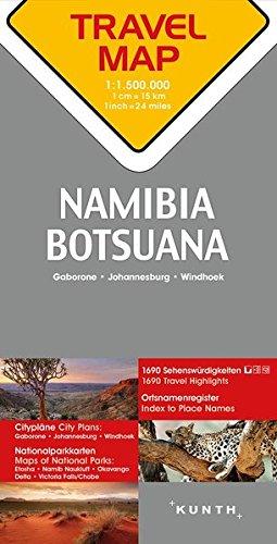 Reisekarte Namibia / Botsuana 1:1.500.000: Travel Map Namibia / Botswana